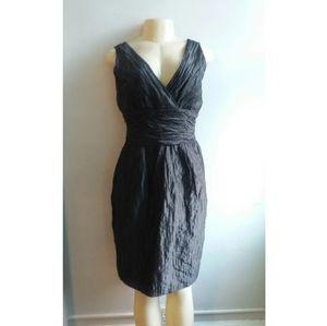 Black Kay Unger New York Crinkle Dress
